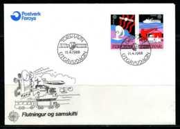 E02135)Färöer Inseln FDC 166/7 - Färöer Inseln