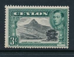 CEYLON, 1938 3c P13½ Light MM, SG387b, Cat £7 - Ceylon (...-1947)