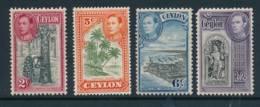 CEYLON, 1938 Selection (2R Has Rounded Corner) Light MM - Ceylon (...-1947)