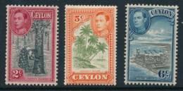 CEYLON, 1938 Selection To 6c Light MM, Cat £8 - Ceylon (...-1947)