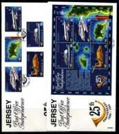 E02300)Jersey FDC 669/73 + Block 9 - Jersey