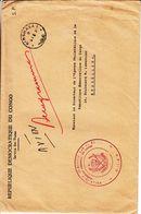 République Du Congo - Lettre De Service Avec Oblitération Kinshasa ° - Cachet Direction Des Postes - République Démocratique Du Congo (1997 -...)