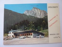 """Cartolina Pubblicitaria """"S. MARTINO DI CASTROZZA - Ristorante MALGA CES"""" Anni '60 - Altre Città"""