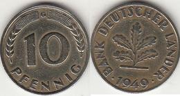 Germania 10 Pfennig 1949G KM#103 - Used - [ 7] 1949-… : RFA - Rep. Fed. Tedesca