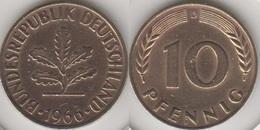 Germania 10 Pfennig 1966 D Km#108 - Used - [ 7] 1949-… : RFA - Rep. Fed. Tedesca