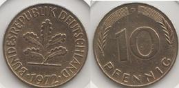 Germania 10 Pfennig 1972 G Km#108 - Used - [ 7] 1949-… : RFA - Rep. Fed. Tedesca