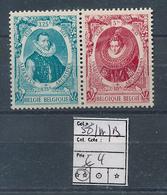 BELGIUM COB 581A/B MNH - Bélgica