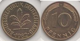 Germania 10 Pfennig 1982 D Km#108 - Used - [ 7] 1949-… : RFA - Rep. Fed. Tedesca
