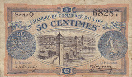Chambre De Commerce Du Lot Billet 50 C Du 29 Novembre 1920 RARE - Chamber Of Commerce