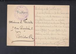 Dt. Reich AK Limburg Gefangenenlager 1915 Nach Paris - Cartas