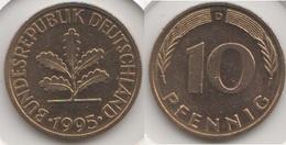 Germania 10 Pfennig 1995 D Km#108 - Used - [ 7] 1949-… : RFA - Rep. Fed. Tedesca