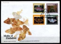 E04906)Simbabwe FDC 344/7 Schmetterlinge - Zimbabwe (1980-...)
