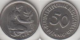 Germania 50 Pfennig 1950 D KM#109.1 - Used - [ 7] 1949-… : RFA - Rep. Fed. Tedesca