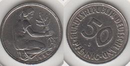 Germania 50 Pfennig 1950 J KM#109.1 - Used - [ 7] 1949-… : RFA - Rep. Fed. Tedesca