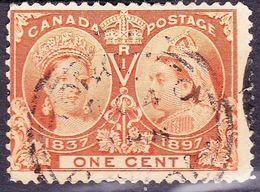CANADA 1897 QV 1 Cent Orange Jubilee SG122 Used - 1911-1935 Reign Of George V