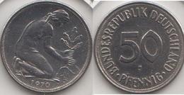 Germania 50 Pfennig 1970 D KM#109.2 - Used - [ 7] 1949-… : RFA - Rep. Fed. Tedesca