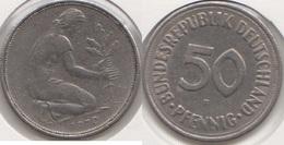 Germania 50 Pfennig 1970 F KM#109.1 - Used - [ 7] 1949-… : RFA - Rep. Fed. Tedesca