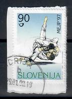 SLOVENIA  1997 - JUDO  - USATO SU FRAMMENTO - Slovenia