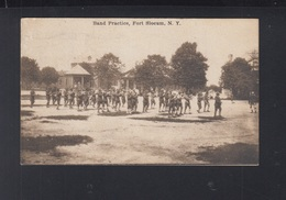 USA PPC Band Practice Fort Slocum 1917 - NY - New York
