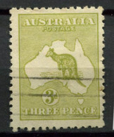 Australia 1913-1915 Usato 100% 3 P, Canguri - 1913-48 Kangaroos