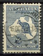 Australia 1915 Mi. 42 Usato 100% Canguri, 2 1/2 P, Natura - 1913-48 Kangaroos