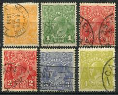 Australia 1926 Mi. 69- Usato 100% Re Georg V - 1913-36 George V : Other Issues
