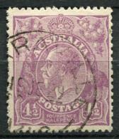 Australia 1926 Mi. 77 Usato 40% 4 1/2 P, Re Georg V - Usati