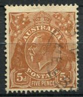 Australia 1926 Mi. 78 Usato 100% 5 P, Re Georg V - Usati