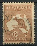Australia 1915 Mi. 45 Usato 100% Canguri, 6 P - 1913-48 Kangaroos