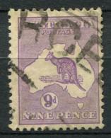 Australia 1929 Mi. 83 Usato 100% 9 P, Canguri - 1913-48 Kangaroos