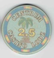2.5 Centrum Poland RARE OBSOLETE Casino Kasino Kasinogeld Ficha Chip Jeton Token Polonia Polen Pologne - Casino