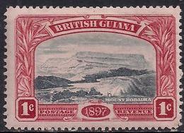 British Guiana 1898 QV 1ct Black & Red Mount Roraima MM SG 216 ( K1387 ) - Guyane Britannique (...-1966)