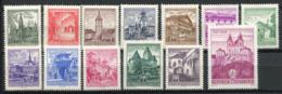 Austria 1962 Mi. 1111-1120 Nuovo ** 100% Monumenti, Costruzione - 1945-.... 2a Repubblica