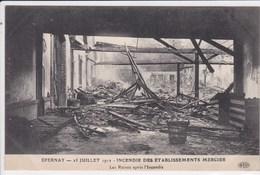 51 EPERNAY Incendie Des Etablissements Mercier , Plafonds Effondrés - Epernay