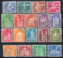 Svizzera 1960 Mi. 696-713 Usato 100% Monumenti. - Svizzera
