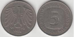 Germania 5 Mark 1975 J KM#140.1 - Used - [ 7] 1949-… : RFA - Rep. Fed. Tedesca