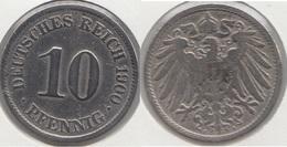 Germania Empire 10 Pfennig 1900 A Km#12 - Used - 10 Pfennig