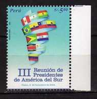 Peru Perou 2004 Latin-American Presidential Summit.flags. MNH - Peru