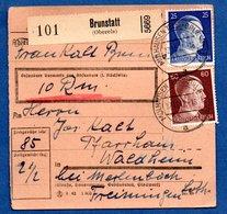 Colis Postal  -  Départ Brunstatt -  17/11/1942 - Briefe U. Dokumente