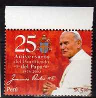 Peru Perou 2004 The 25th Anniversary Of Pope John Paul II's Pontificate. MNH - Peru