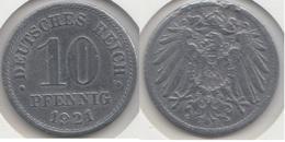 Germania Empire 10 Pfennig 1921 Km#26 - Used - [ 2] 1871-1918 : Impero Tedesco