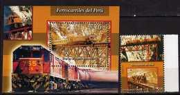 Peru / Perou 2004 National Railways.Trains.S/S And Stamp. MNH - Peru