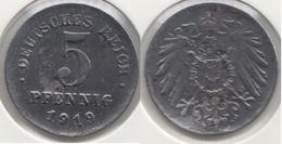 Germania Empire 5 Pfennig 1919 Km#19 - Used - [ 2] 1871-1918 : Impero Tedesco