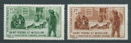 SAINT PIERRE ET MIQUELON 1942 . Poste Aérienne N° 1 Et 2 .  Neufs *  (MH). - Unused Stamps