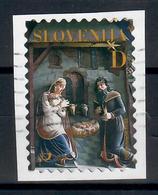 SLOVENIA  2001 - NATALE  - USATO SU FRAMMENTO - Slovenia