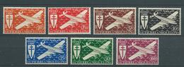 SAINT PIERRE ET MIQUELON 1942 . Poste Aérienne  .Série N°s 4 à 10 .  Neufs *  (MH). - Unused Stamps