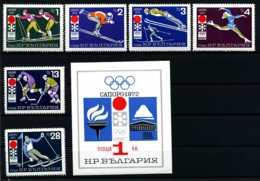 E09076)Olympia 72 Bulgarien 2114/9** + Bl 33** - Winter 1972: Sapporo