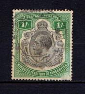 TANGANYIKA    1927    1/- Green    USED - Tanzania (1964-...)
