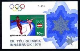 E09455)Olympia 76, Ungarn Bl 116 B** - Inverno1976: Innsbruck