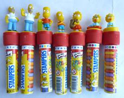 Lot 7 FIGURINES SIMPSON TAMPON TUBO DUNKIN Figurine - Simpsons